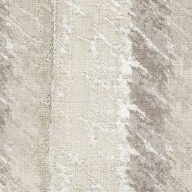 Otis - Dove - White and light shades of grey making up a subtle design of smudges and patches on striped polyester and cotton fabric