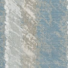 Otis - Sky - Subtle silver-grey patches covering grey and light blue coloured vertically striped polyester and cotton blend fabric