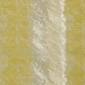 Otis - Zest - Yellow-green, light grey and putty coloured polyester and cotton fabric, with vertical stripes behind white and beige patches