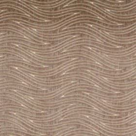 Carrie - Taupe - Taupe brown waves on brown fabric