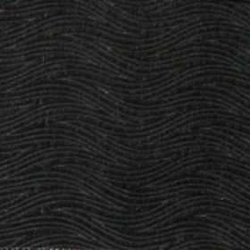 Carrie - Noir - Noir black waves on black fabric