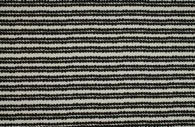 Redig - Black - Tiny black dots lined up in horizontal rows over a background of fabric made from off-white coloured 100% cotton