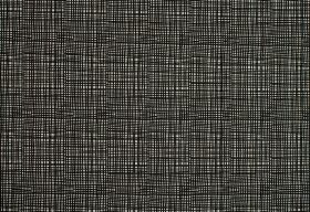 Ruta - Black - A repeated design of thin horizontal and vertical black lines on a white 100% cotton fabric background