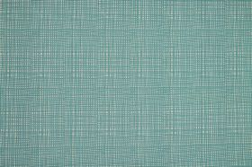 Ruta - Cobalt - Duck egg blue coloured fabric made entirely from cotton, patterned with lines which make a very subtle checked design