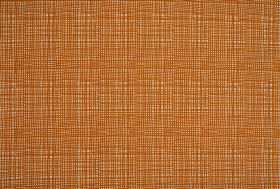 Ruta - Orange - A very tightly spaced burnt orange grid printed over a background of pale grey fabric made from 100% cotton