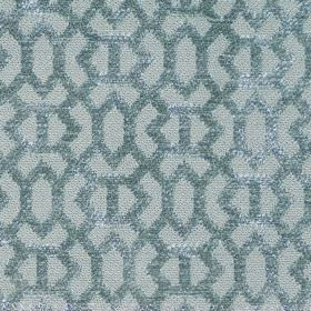 Heeley - Aqua - Aqua blue fabric with a modern line pattern
