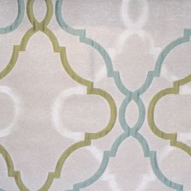 Malone - Meadow - Sandy fabric with classic meadow green pattern