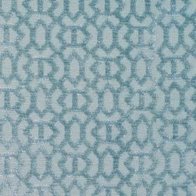 Heeley - Sky - Sky blue with a modern line pattern