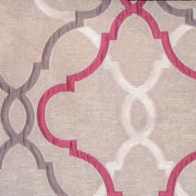 Malone - Raspberry - Sandy fabric with classic raspberry pink pattern