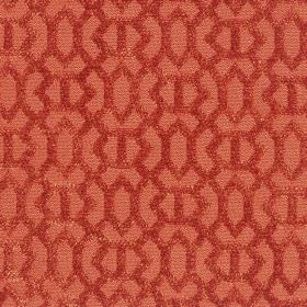 Heeley - Saffron - Saffron red with a modern line pattern