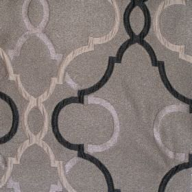 Malone - Graphite - Sandy fabric with classic graphite black pattern