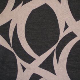 Lola - Graphite - Graphite black fabric with random sandy stroke pattern
