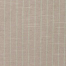 Huntington - Candyfloss - Evenly spaced, wide, light dusky pink coloured stripes against a pale grey 100% cotton fabric background