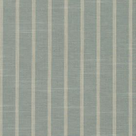 Huntington - Sky - 100% cotton fabric featuring a regular vertical striped pattern in light shades of grey and dusky blue