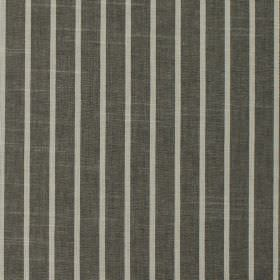 Huntington - Slate - Dark and light grey striped 100% cotton fabric featuring a regular pattern which runs vertically