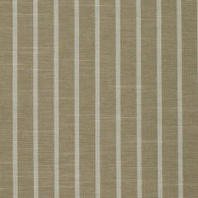 Huntington - Wicker - 100% cotton fabric made in khaki and light grey colours with a regular pattern of vertical stripes