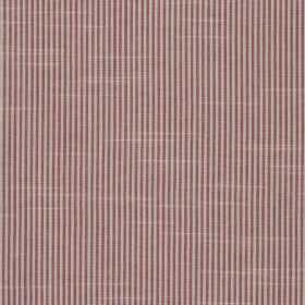 Balboa - Hibiscus - Narrow stripes in dark pink and pale grey printed vertically on 100% cotton fabric