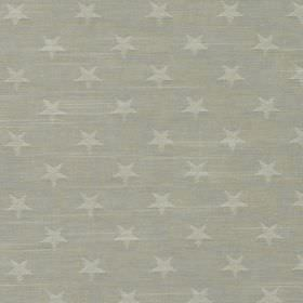 Newport - Dove - Pale grey coloured stars printed in rows against a background of 100% cotton fabric made in two similar shades of grey