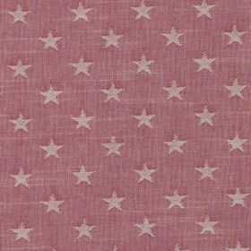 Newport - Hibiscus - 100% cotton fabric in mulberry, patterned with rows of small star prints in a very pale grey-pink colour
