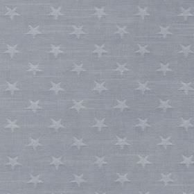 Newport - Navy - 100% cotton fabric covered with a small star print in two similar shades of baby blue