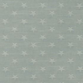 Newport - Sky - Very pale grey-blue stars printed in a regular repeated pattern on a light blue-grey 100% cotton fabric background