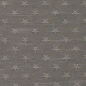 Newport - Slate - A pattern of rows of light grey coloured stars printed on a background of dark iron grey coloured 100% cotton fabric