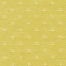 Newport - Sorbet - Bright fabric made entirely from cotton covered with a simple, repeated star pattern in two similar shades of yellow