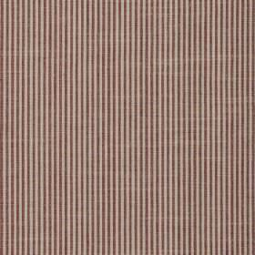 Balboa - Strawberry - Dark red and light grey coloured 100% cotton fabric featuring a simple, narrow vertical stripe design