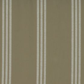 Marley - Linen - Chalk white coloured narrow stripes arranged in sets of three over a grey-green 100% cotton fabric background