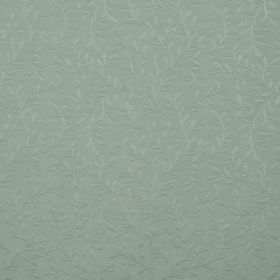 Oldbury - Duckegg - Duck egg blue coloured cotton and polyester blend fabric featuring a subtle pattern of very simple leaves and vines