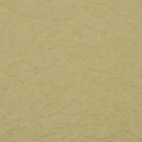Oldbury - Gold - Leaf and vine patterned cotton and polyester blend fabric with a very simple, elegant design in a plain green-gold colour