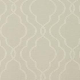 Halwell - Cream - A very simple pattern of curved lines in cream against fabric made from cotton and polyester in a similar shade of cream