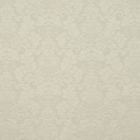 Wandworth - Cream - Fabric made from cotton and polyester in an oyster colour, featuring a subtle repeated pattern of full, leafy designs