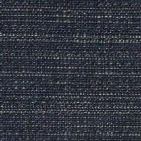 Raffia - Indigo - Luxurious fabric woven with some white threads running through a deep, rich navy blue polyester and viscose blend