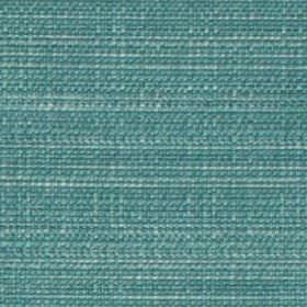 Raffia - Teal - Aqua blue coloured woven polyester and viscose blend fabric featuring a few lighter blue coloured threads