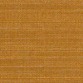 Raffia - Clementine - Rich oak coloured polyester and viscose blend fabric, woven using a few subtle creamy threads