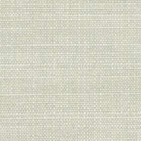 Raffia - Dove - Woven fabric made from polyester and cotton using threads in white and a very light shade of grey