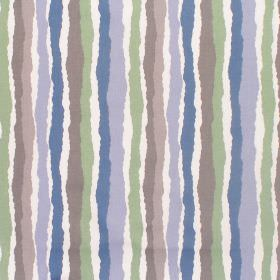 The Twits - Midgy Stripe Blue - Cotton fabric with shades of blue, green and grey stripes