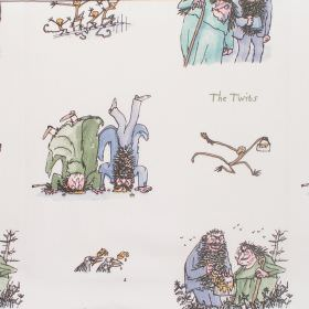 The Twits - Twits - Cotton fabric with neutral background depicting characters from The Twits