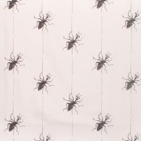 James And The Giant Peach - Miss Spider - Cotton fabric with white background with grey spider-like characters