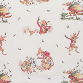 Fantastic Mr Fox - Fantastic Mr Fox - Cotton fabric with neutral background wth pastel figures