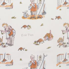 Esio Trot - Esio Trot - Cotton fabric with neutral background with pastel figures