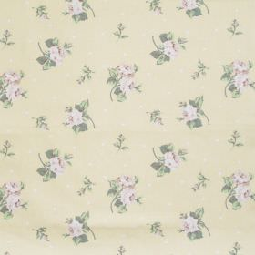 Hartsfield - Buttercup - Buttercup yellow fabric with flowers and dots