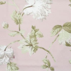 Pemberly - Blush - Blush pink fabric with detailed floral impressions