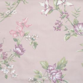 Applebury - Blush - Blush pink fabric with detailed floral impressions