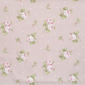 Hartsfield - Blush - Blush pink fabric with flowers and dots