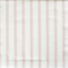 Eltham - Blush - White fabric with blush pink stripes