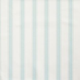 Eltham - Sky Blue - White fabric with sky blue stripes