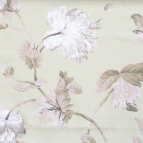 Pemberly - Sage - Sage green fabric with detailed flower impressions