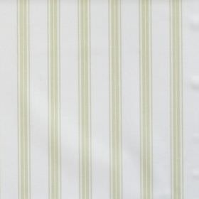 Eltham - Sage - White fabric with sage green stripes